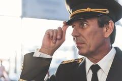 Situação piloto calma no airdrome Fotos de Stock Royalty Free