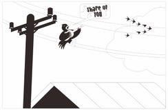 Situação temperamental do pássaro ilustração royalty free