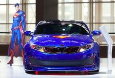 Situações óptimas do conceito do superman de Kia Imagem de Stock Royalty Free