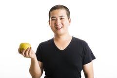 Situación asiática joven del hombre aislada en blanco fotos de archivo libres de regalías
