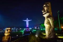 Situación de la isla de pascua a Rio de Janeiro imagenes de archivo