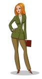 Situación de la mujer de negocios Imagen de archivo