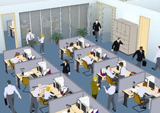 Situación de la oficina stock de ilustración