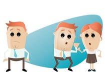 Situación de la rumor de la oficina de negocios stock de ilustración