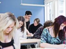 Situación de la sala de clase Imagen de archivo