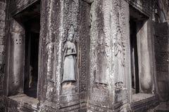 Situación de las tallas de Apsara en la pared del templo de Angkor, herit del mundo Imágenes de archivo libres de regalías