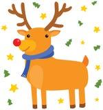Situación de los ciervos de la Navidad Fotos de archivo libres de regalías