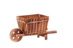 Situación de madera vacía hecha a mano del carro aislada Imagen de archivo libre de regalías