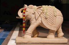 Situación del elefante en la India Fotos de archivo