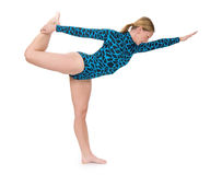Situación del gimnasta Foto de archivo