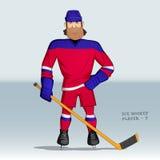 Situación del jugador del hockey sobre hielo Fotos de archivo libres de regalías