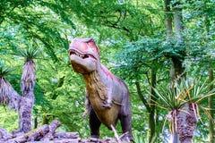 Situación del modelo del rex 3D del tiranosaurio para arriba imagen de archivo libre de regalías