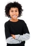 Situación del muchacho de la raza mezclada Fotografía de archivo libre de regalías