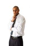 Situación hermosa del hombre de negocios Imagen de archivo libre de regalías