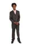 Situación negra del hombre de negocios Fotografía de archivo