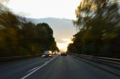 Situación peligrosa en tráfico Foto de archivo