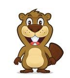 Situación sonriente del castor libre illustration