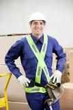 Situación confiada de In Protective Clothing del capataz Fotografía de archivo