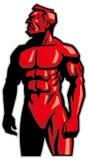 Situación de la mascota del hombre del músculo Foto de archivo libre de regalías