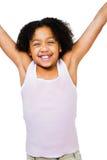 Situación feliz de la muchacha Fotografía de archivo