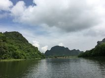 Trang An Landscape Complex, Vietnam stock photography