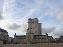Chateau De Vincennes - France Castles. Situated to the east of Paris in the forests of Vincennes was a favourite residence amongst the French Kings Stock Image