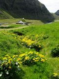 Saksun church. Situated in the village of Saksun in the Faroe Islands Royalty Free Stock Photo