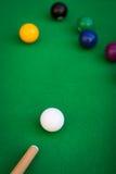 Situation de jeu de billard ou de piscine Image libre de droits