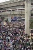Situation de protestation de Bangkok en Thaïlande photographie stock libre de droits