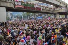 Situation de protestation de Bangkok en Thaïlande images libres de droits