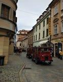 Situation de rue dans la ville de Bratislava Images stock