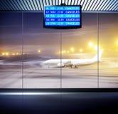Situation im Flughafen Stockbild