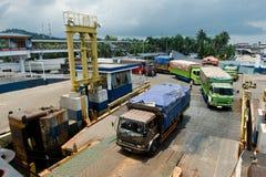 Seaport loading Stock Photography