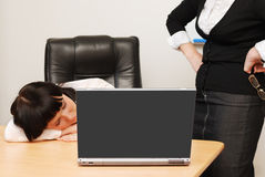 The situation in the office Royalty Free Stock Photos