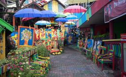 Situation of rainbow village, Semarang-Indonesia stock photos
