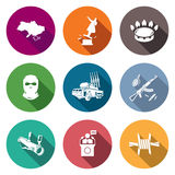 The situation in Ukraine Icons Set. Vector Illustration. Royalty Free Stock Images