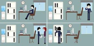 Situations de travail de bureau Image libre de droits