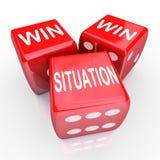 Situations-mit Gewinn für beide Parteien beiderseitige Nutzen-Abkommen-Anordnungs-Vereinbarung Lizenzfreie Stockfotografie