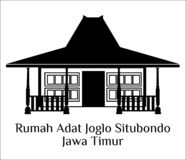 Situbondojawa van Rumah adat joglo timur royalty-vrije stock afbeeldingen