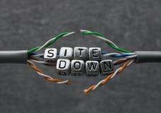 Situe abaixo do texto para a manutenção do Web site com fundo cinzento Imagem de Stock Royalty Free