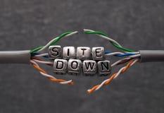 Situe abaixo do texto para a manutenção do Web site com fundo cinzento Foto de Stock Royalty Free