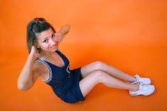 Situp de l'adolescence Photographie stock