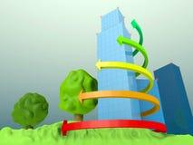 sity 3D Stockfotografie