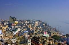 Sity indiano santamente Varanasi Foto de Stock