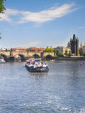 Sity landscape. River Sity. Blue water Royalty Free Stock Photography