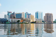Sityscape de Kuching (Bornéo, Malaisie) Image libre de droits