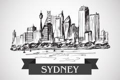Sityscape tirado mão de Sydney Fotografia de Stock
