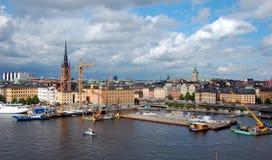 Sityscape van Stockholm Stock Afbeelding