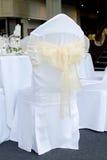 Sitzüberzug an der Hochzeit Lizenzfreies Stockfoto