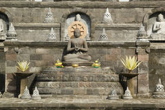 Sitz-Buddha-Statue in Bali, Indonesien Lizenzfreie Stockbilder
